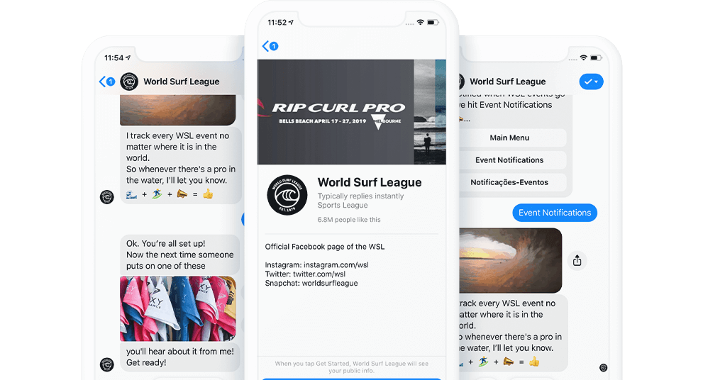 World Surf League Bot - Master of Code Global