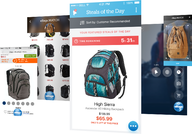 eBags - iOS and Android apps for the world's largest online retailer of bags and accessories for all lifestyles