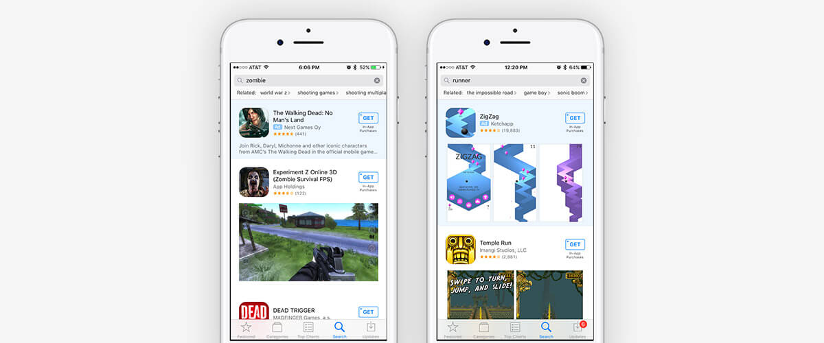 Current Search Ad Placement in the App Store