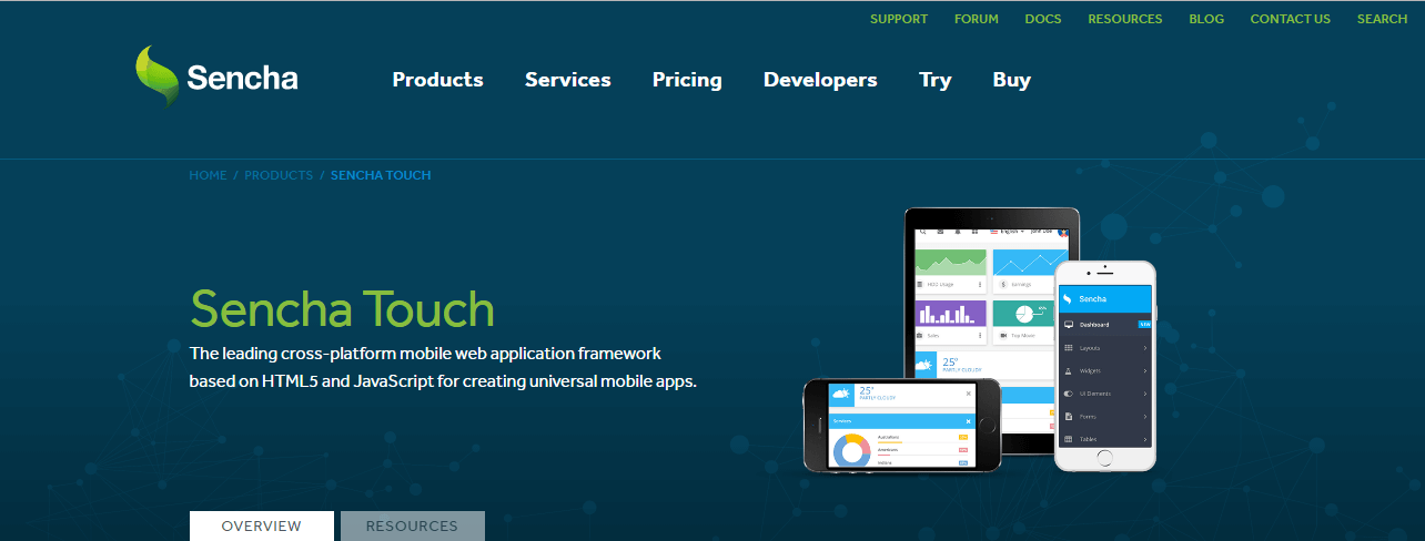 Sencha framework for mobile development