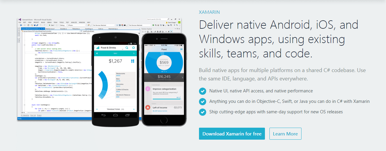 Xamarin Framework for mobile development
