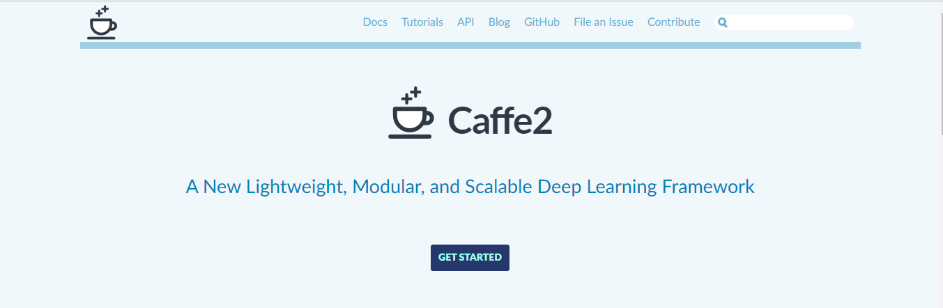 artificial intelligence Caffe2 framework F8