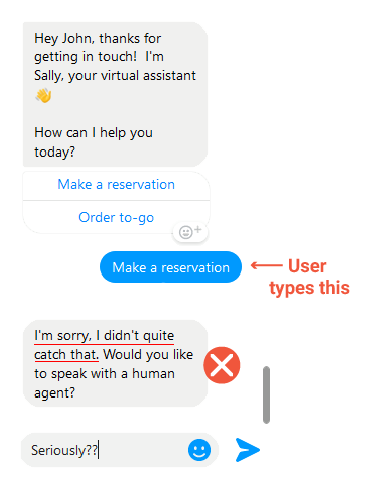 How to design a conversation for chatbot