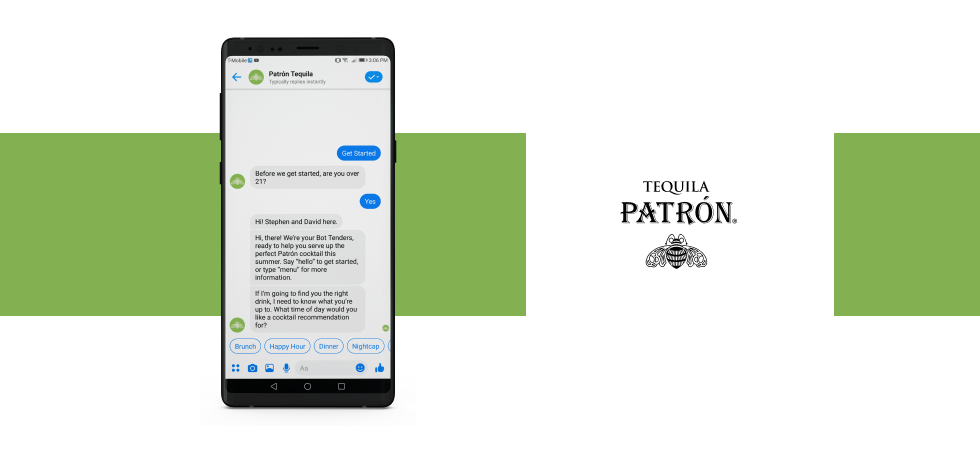 Chatbot Example #8: Patrón Tequila's BotTenders
